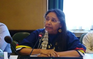 Vortragsabend mit Elder Charmaine White Face, Sprecherin der traditionellen Regierung der Oglala Tituwan Oceti Sakowin Great Sioux Nation, USA, im Hotel Bern vom 15. September 2015